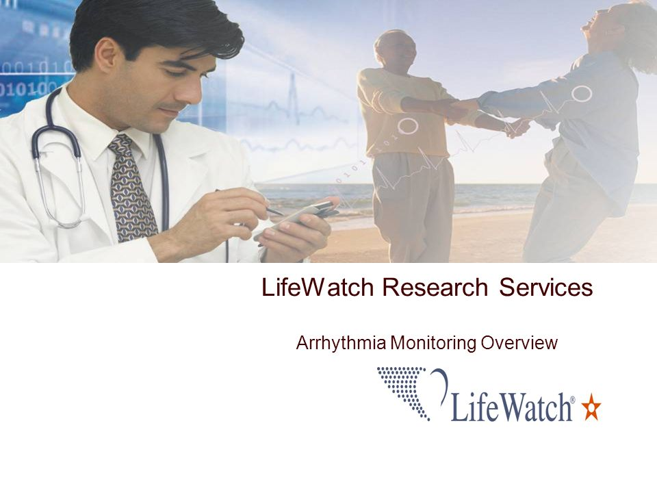 LifeWatch Research Services Arrhythmia Monitoring Overview