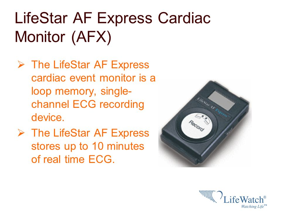 LifeStar AF Express Cardiac Monitor (AFX)