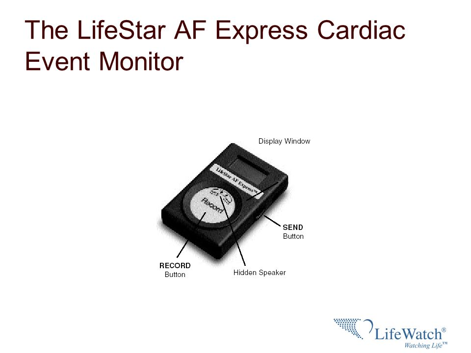 The LifeStar AF Express Cardiac Event Monitor