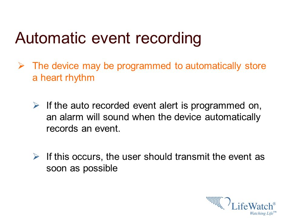 Automatic event recording