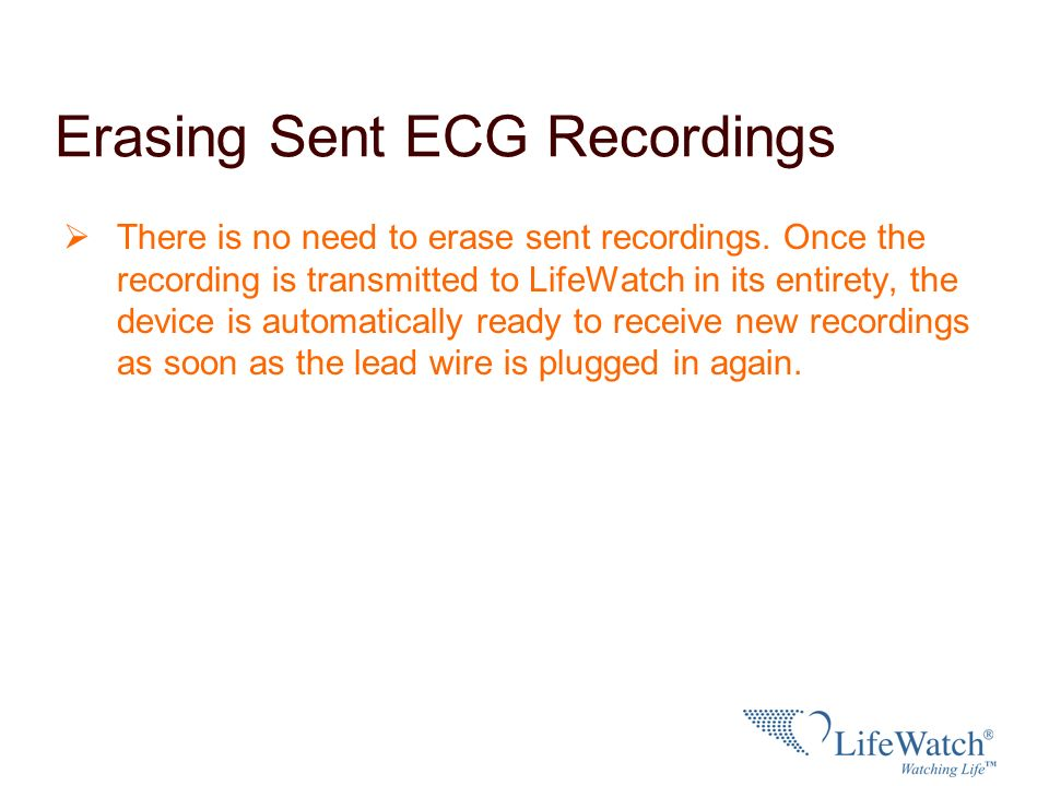 Erasing Sent ECG Recordings