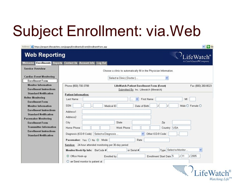 Subject Enrollment: via.Web