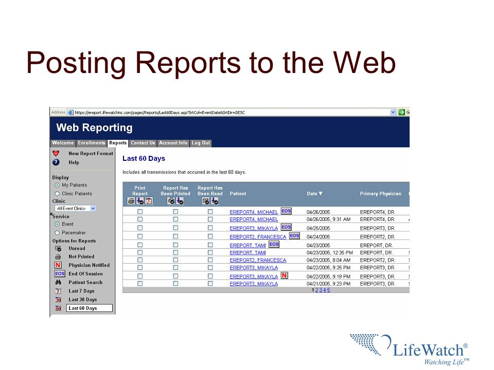 Posting Reports to the Web