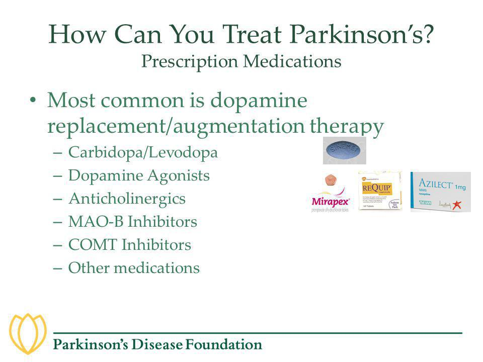 How Can You Treat Parkinson's Prescription Medications