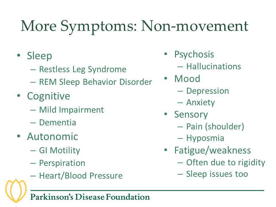 More Symptoms: Non-movement
