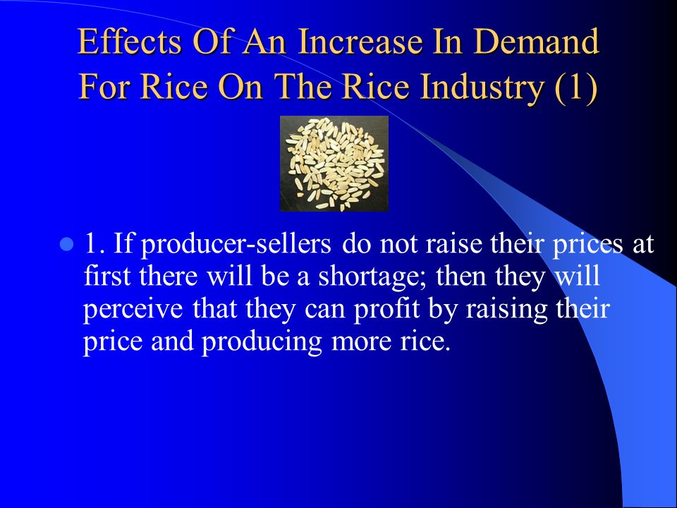 Effects Of An Increase In Demand For Rice On The Rice Industry (1)