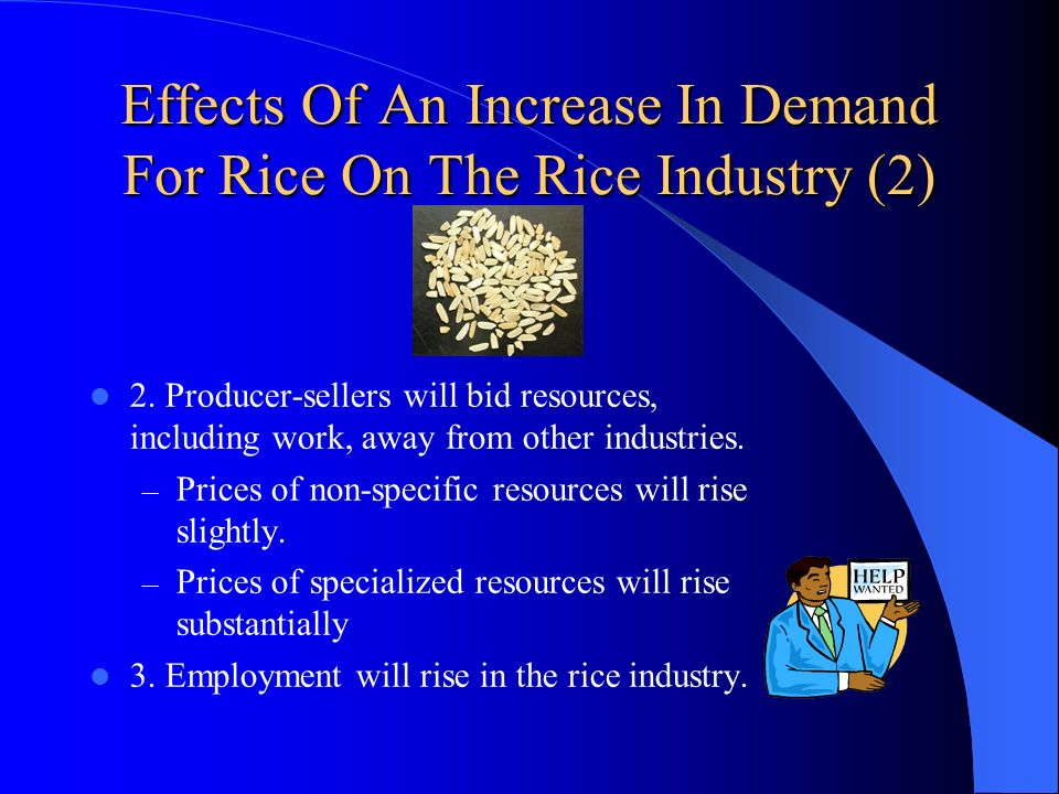 Effects Of An Increase In Demand For Rice On The Rice Industry (2)