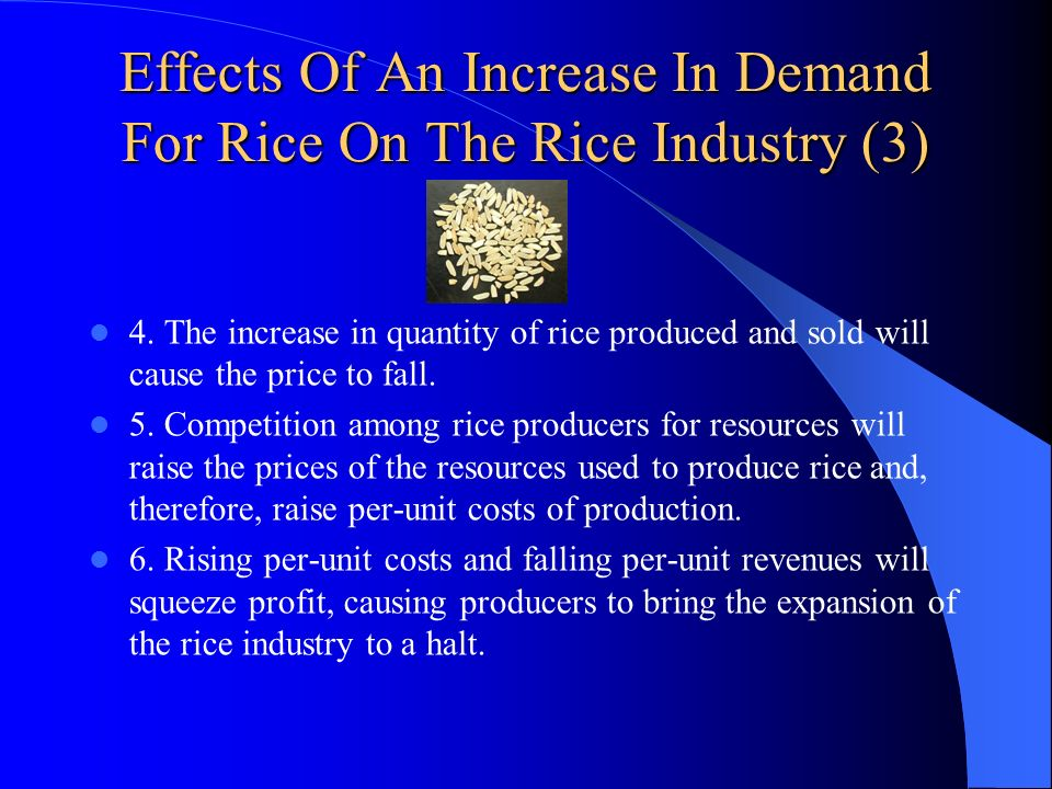 Effects Of An Increase In Demand For Rice On The Rice Industry (3)