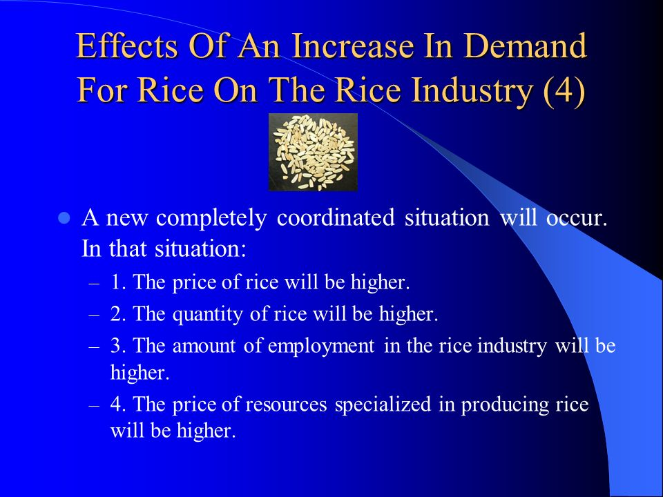 Effects Of An Increase In Demand For Rice On The Rice Industry (4)