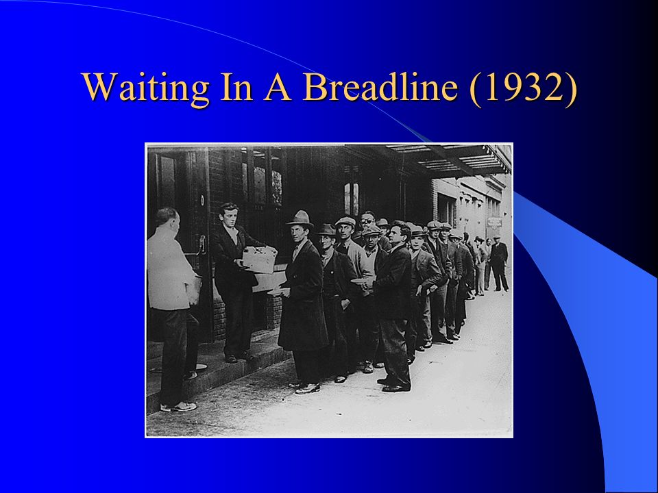 Waiting In A Breadline (1932)