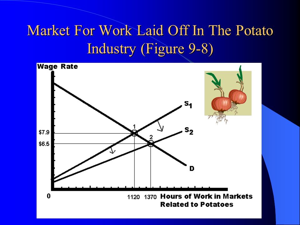 Market For Work Laid Off In The Potato Industry (Figure 9-8)