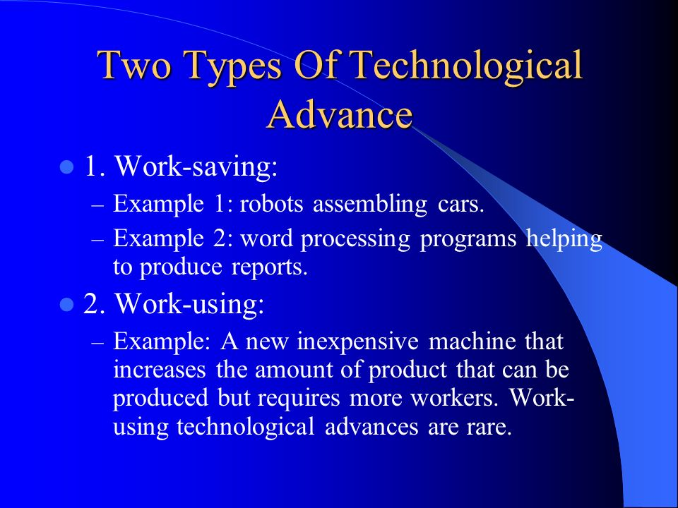 Two Types Of Technological Advance