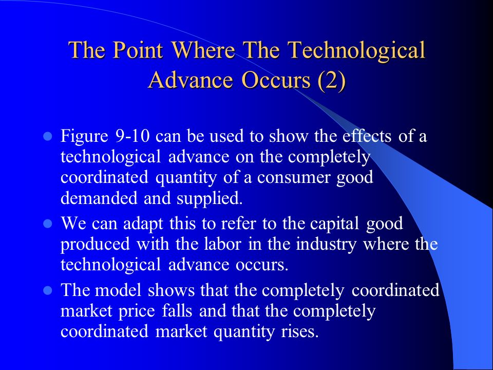 The Point Where The Technological Advance Occurs (2)