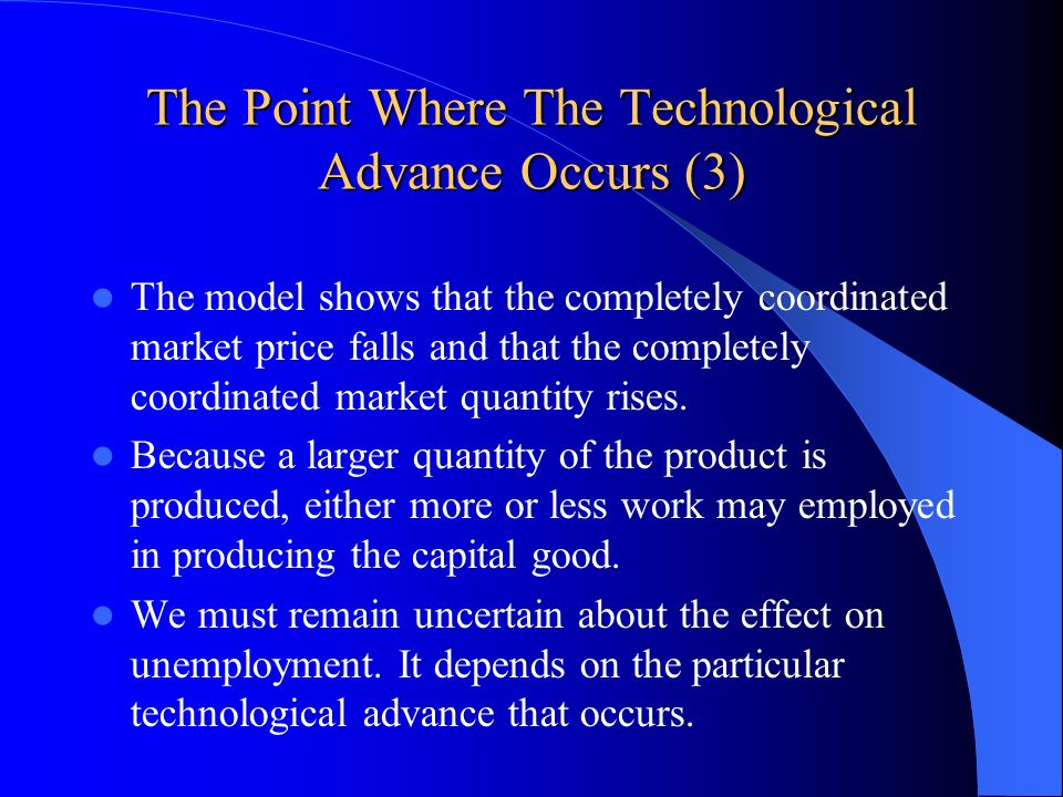 The Point Where The Technological Advance Occurs (3)