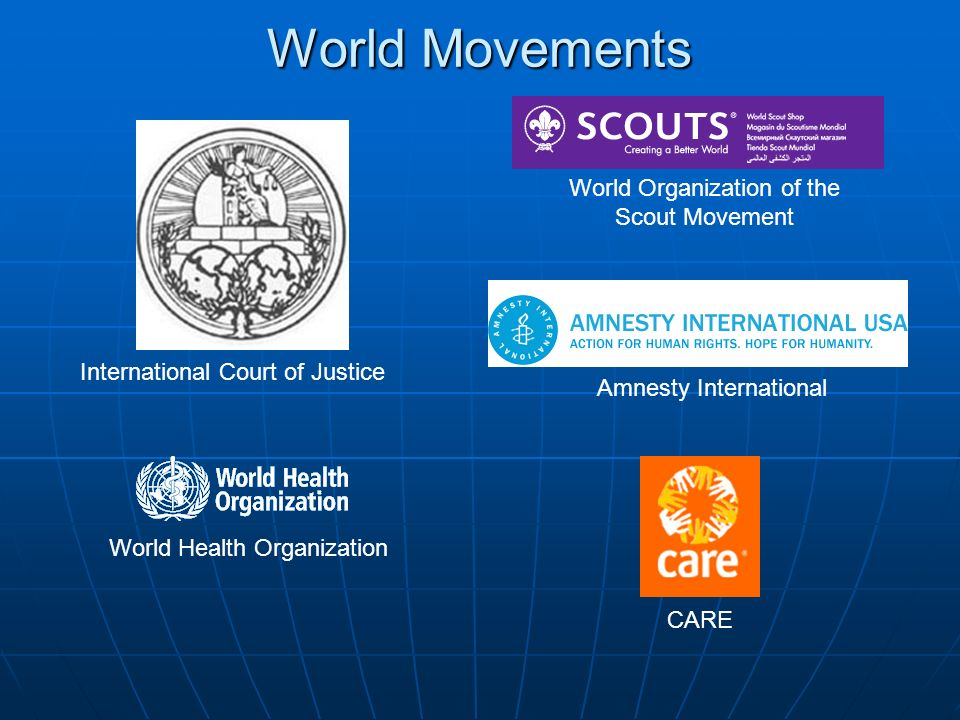 World Movements World Organization of the Scout Movement