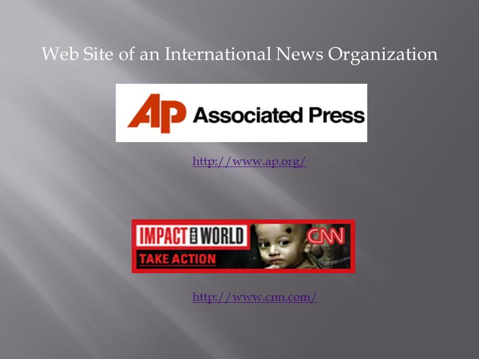 Web Site of an International News Organization