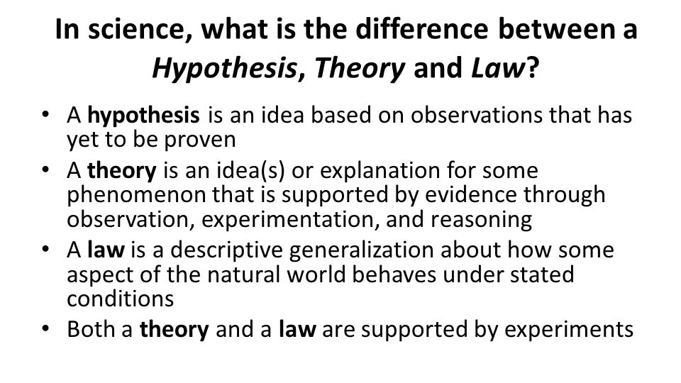 The Difference Between a Hypothesis and a Theory | Merriam