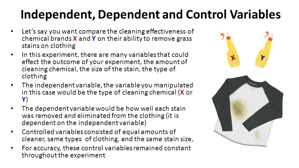Independent, Dependent and Control Variables