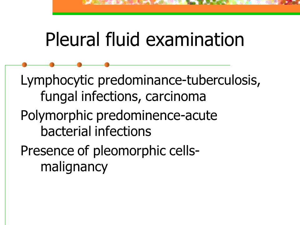 Pleural fluid examination