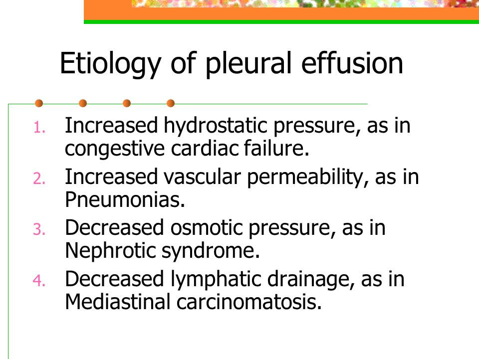 Etiology of pleural effusion