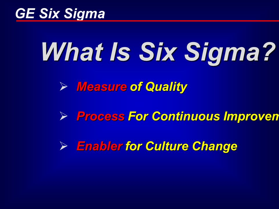 What Is Six Sigma Measure of Quality