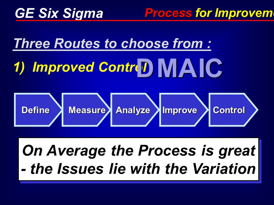 On Average the Process is great - the Issues lie with the Variation