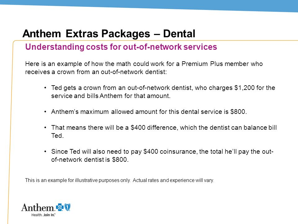 Anthem Extras Packages – Dental