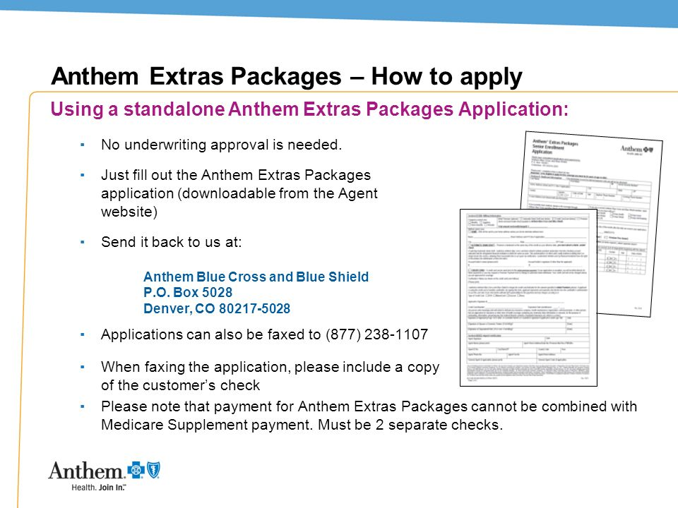 Anthem Extras Packages – How to apply
