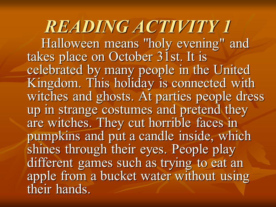 READING ACTIVITY 1