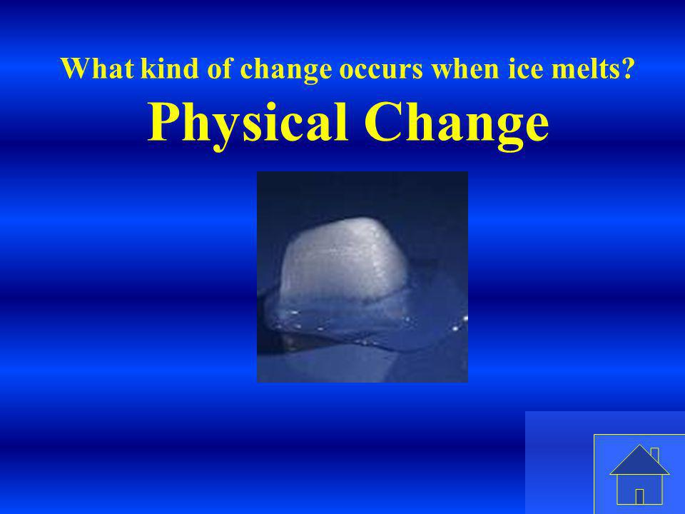 What kind of change occurs when ice melts