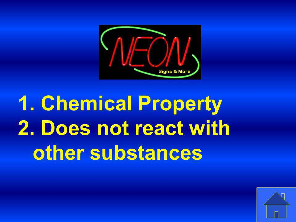 Does not react with other substances