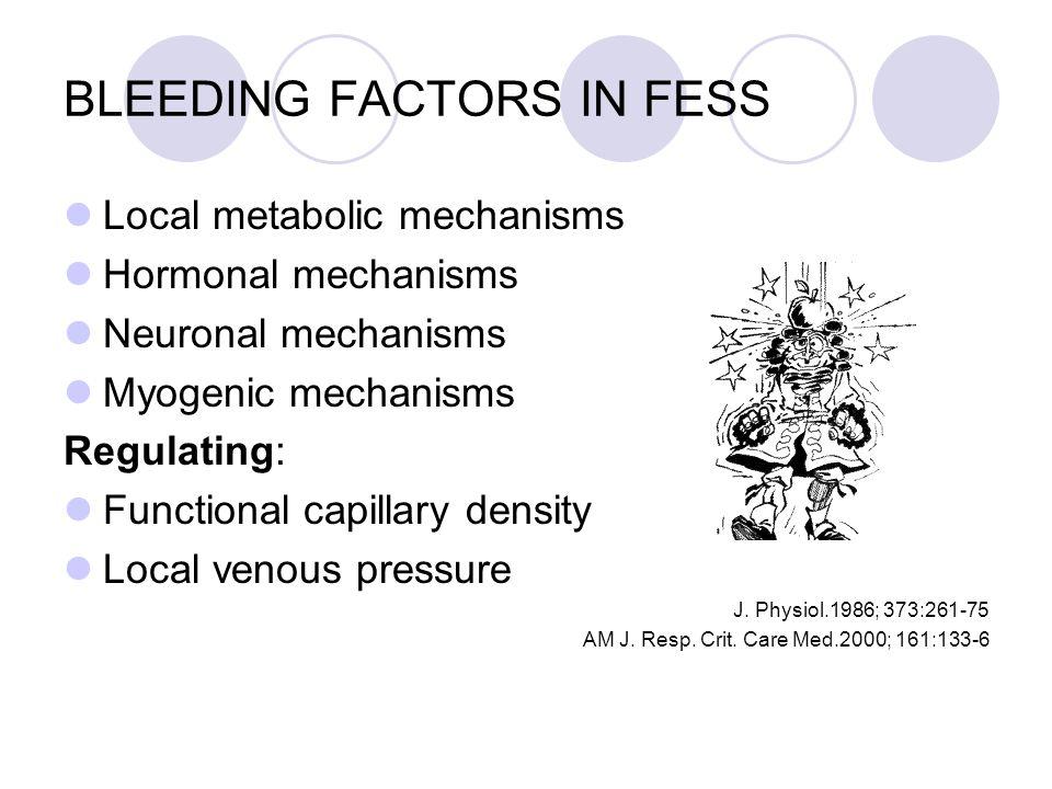BLEEDING FACTORS IN FESS