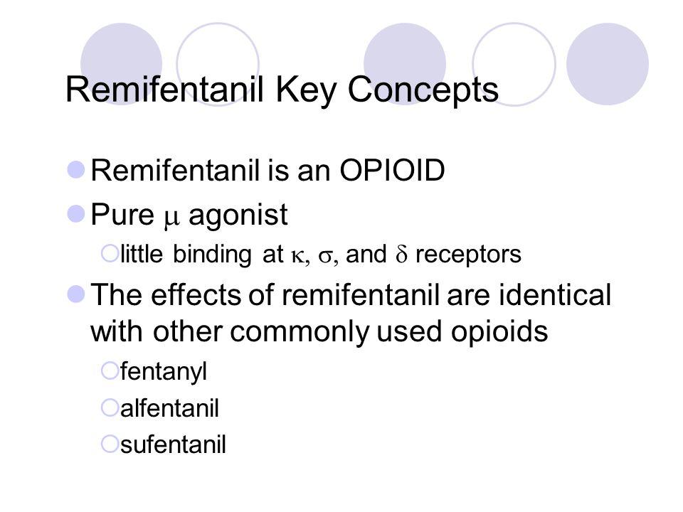 Remifentanil Key Concepts