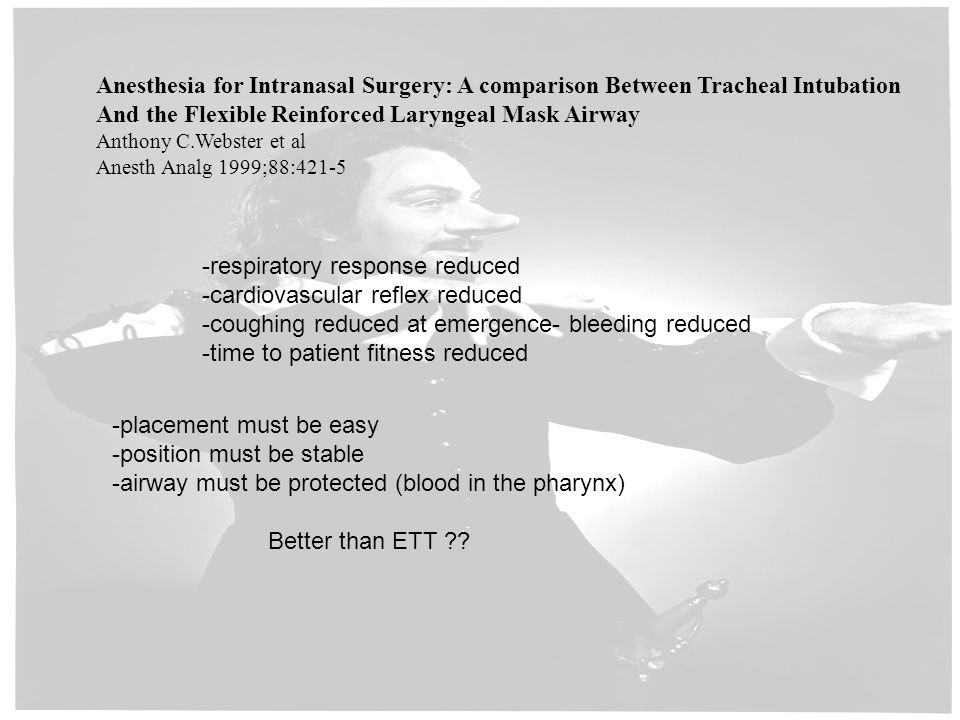 And the Flexible Reinforced Laryngeal Mask Airway