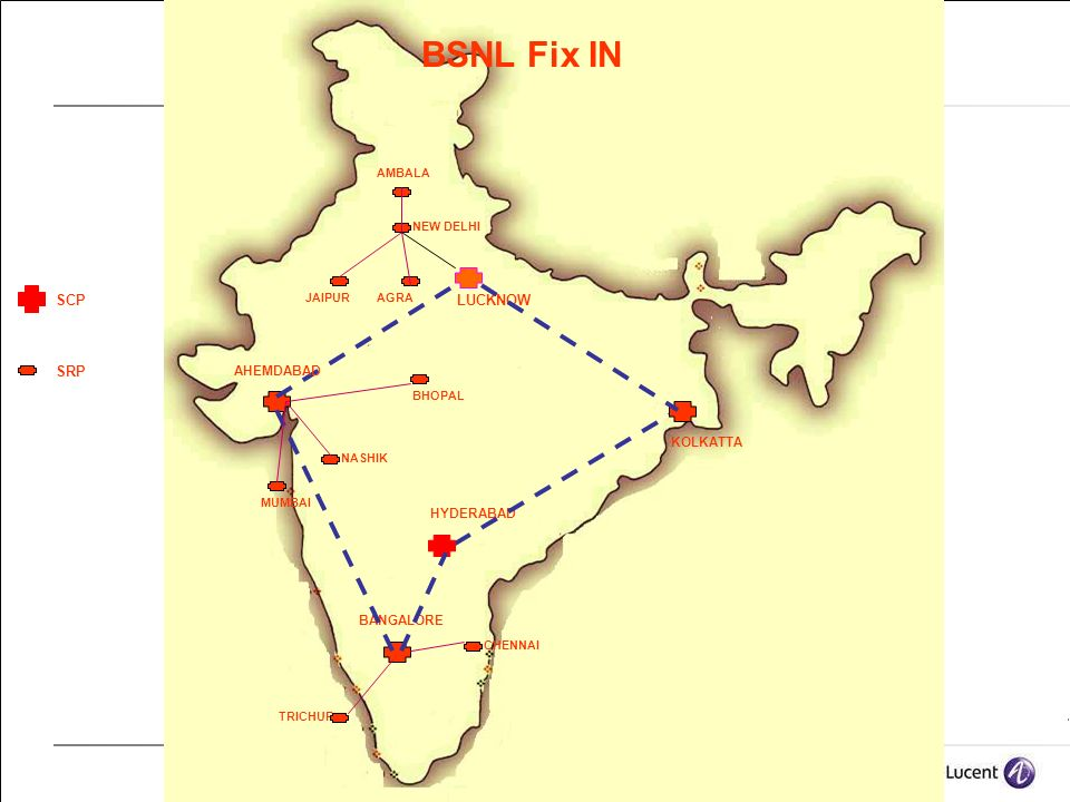 BSNL Fix IN SCP LUCKNOW SRP AHEMDABAD KOLKATTA HYDERABAD BANGALORE