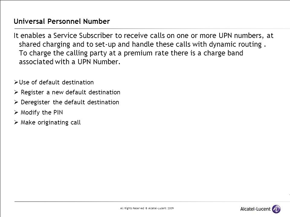Universal Personnel Number