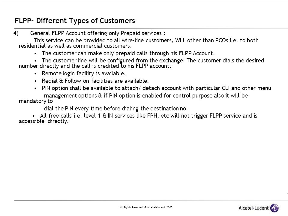 FLPP- Different Types of Customers