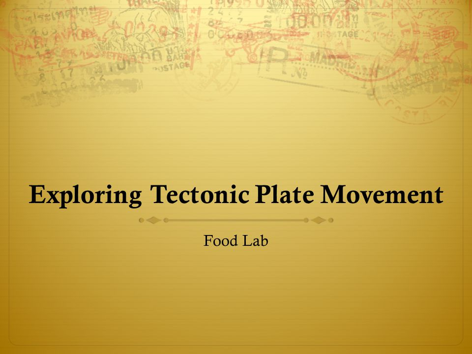 Exploring Tectonic Plate Movement