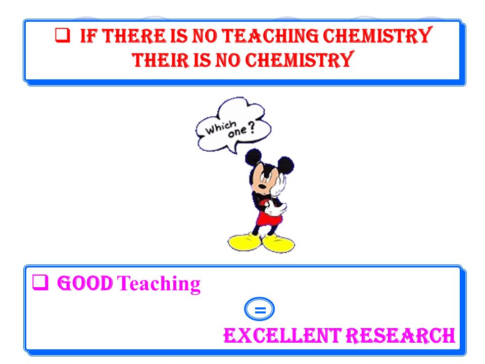 If There is no Teaching Chemistry
