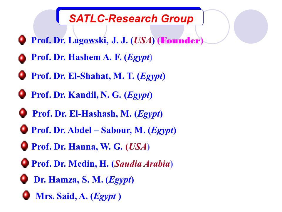 SATLC-Research Group Prof. Dr. Lagowski, J. J. (USA) (Founder)