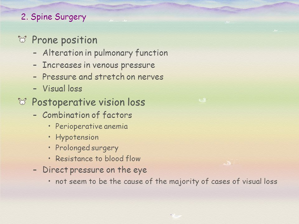 Postoperative vision loss