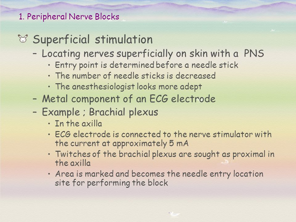 1. Peripheral Nerve Blocks