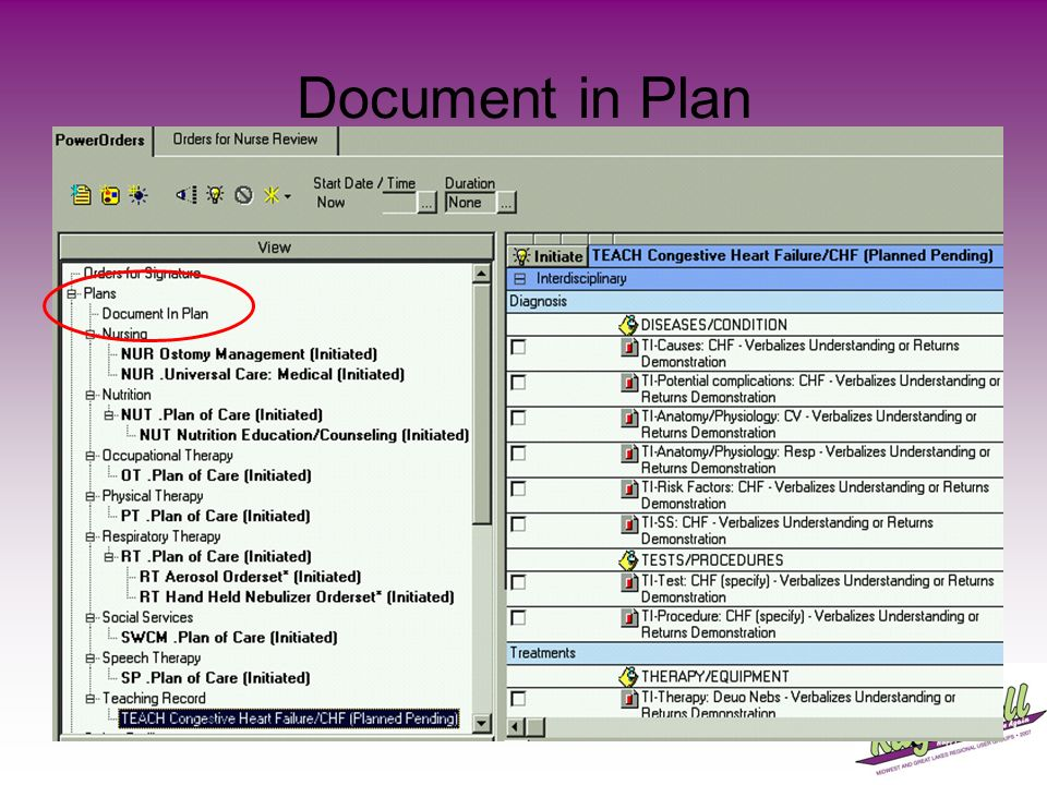 Document in Plan