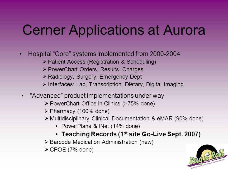 Cerner Applications at Aurora