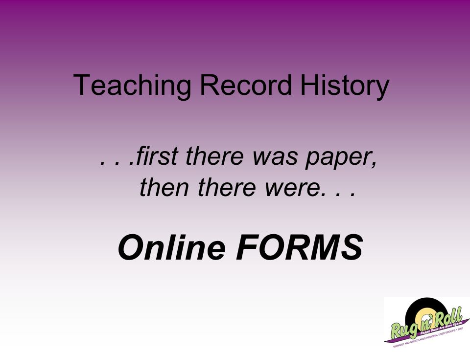 Teaching Record History