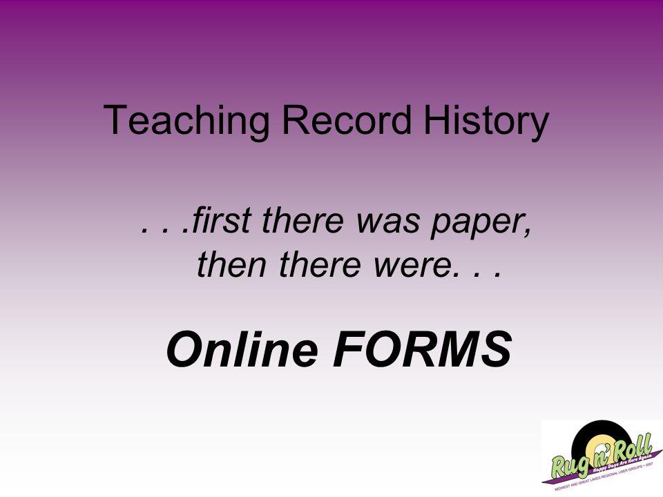 Teaching Record History