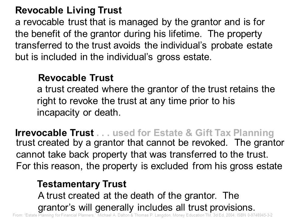 Living & Testamentary Trusts