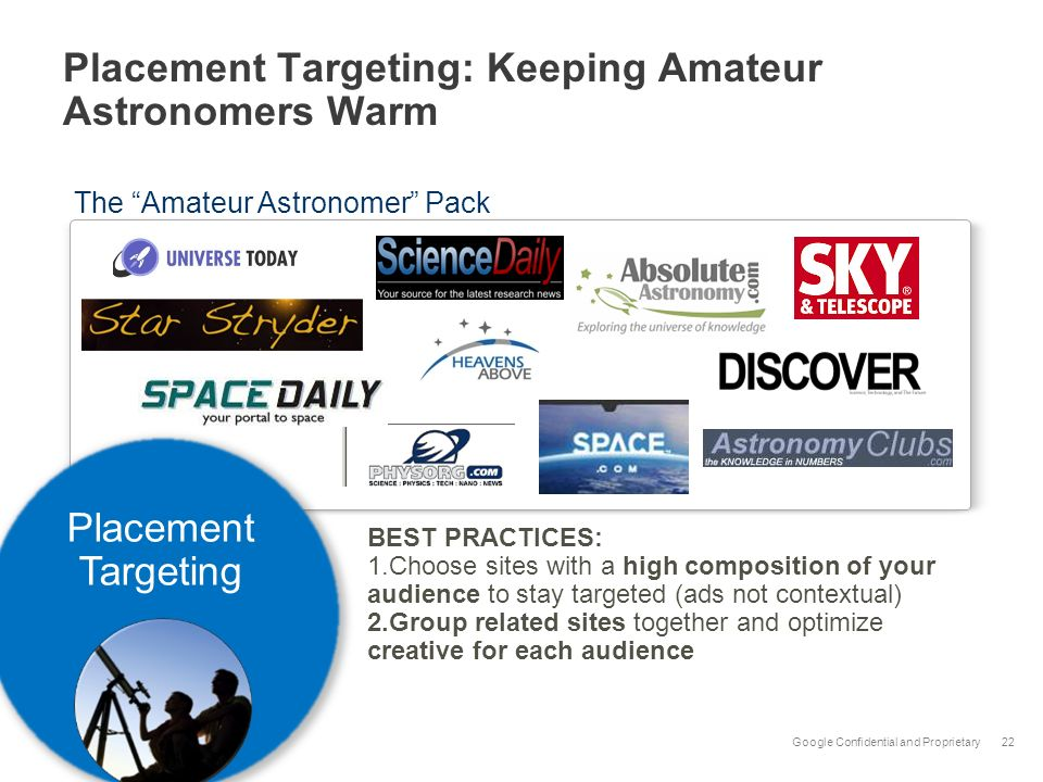 Placement Targeting: Keeping Amateur Astronomers Warm