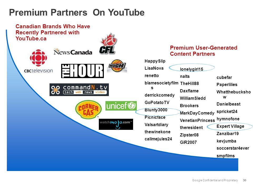 Premium Partners On YouTube