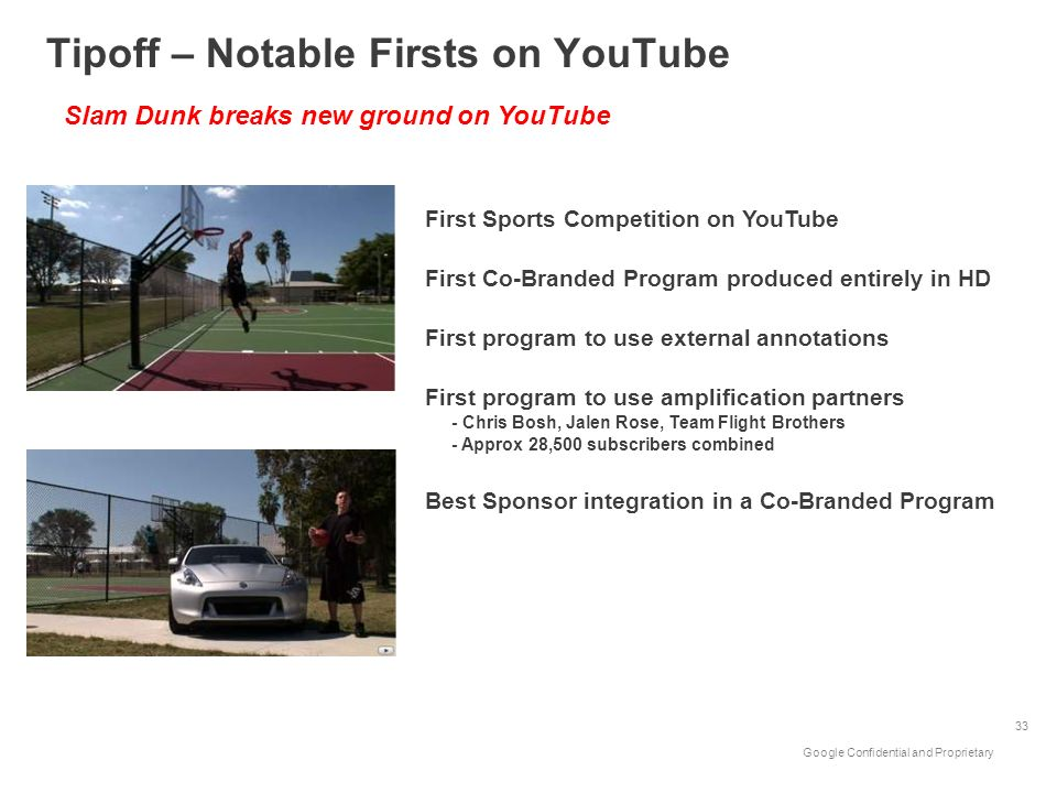 Tipoff – Notable Firsts on YouTube